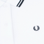 Женское поло Fred Perry G3600 White/Black/Black фото- 2