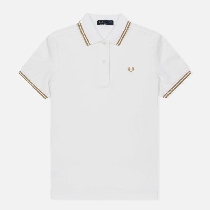 Женское поло Fred Perry G3600 White/Gold/Gold