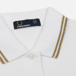Женское поло Fred Perry G3600 White/Gold/Gold фото- 1