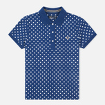 Женское поло Fred Perry Polka Dot Collar Medieval Blue фото- 0
