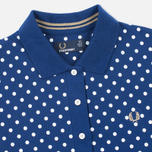 Женское поло Fred Perry Polka Dot Collar Medieval Blue фото- 1
