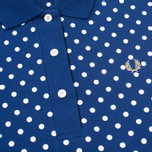 Женское поло Fred Perry Polka Dot Collar Medieval Blue фото- 2
