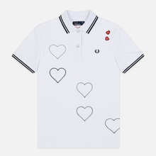 Женское поло Fred Perry x Amy Winehouse Embroidered Heart Pique White фото- 0