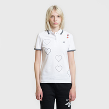 Женское поло Fred Perry x Amy Winehouse Embroidered Heart Pique White фото- 1
