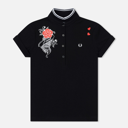 Женское поло Fred Perry x Amy Winehouse Embroidered Pique Black