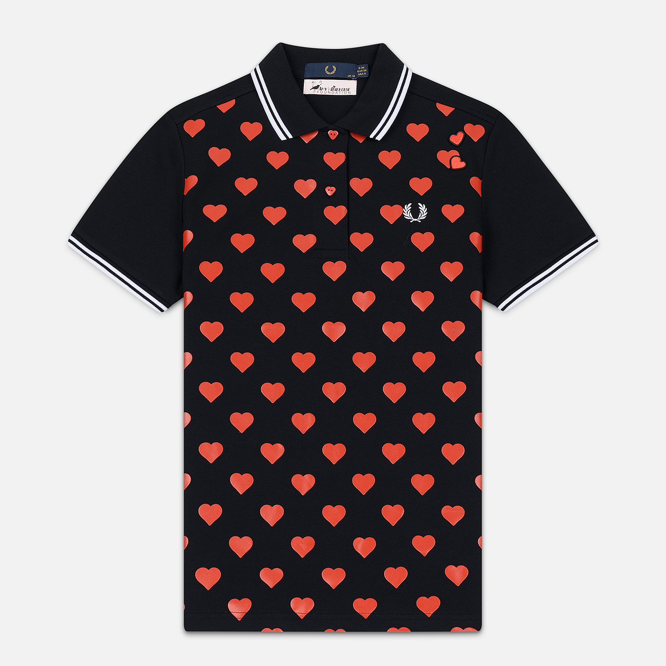 Женское поло Fred Perry x Amy Winehouse Heart Print Pique Black