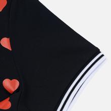Женское поло Fred Perry x Amy Winehouse Heart Print Pique Black фото- 3