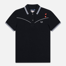 Женское поло Fred Perry x Amy Winehouse Piped Black фото- 0