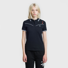 Женское поло Fred Perry x Amy Winehouse Piped Black фото- 1