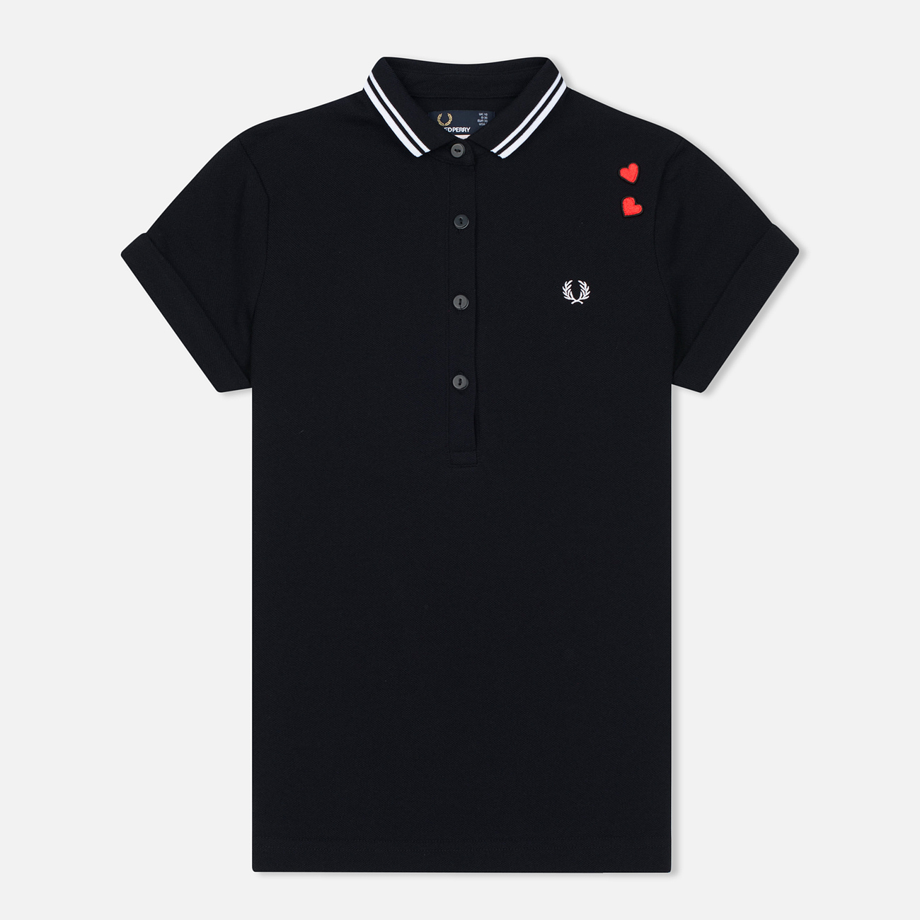 Женское поло Fred Perry x Amy Winehouse Pique Black