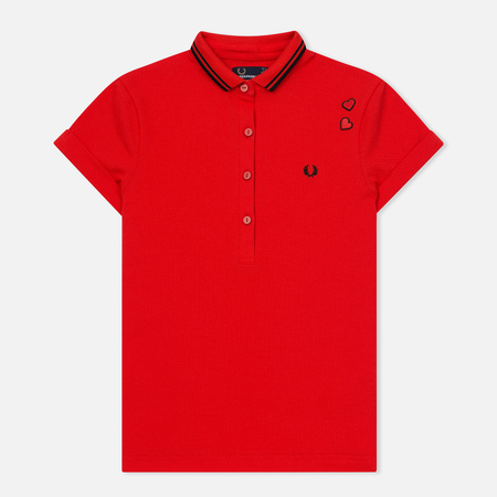 Женское поло Fred Perry x Amy Winehouse Pique Lipstick Red