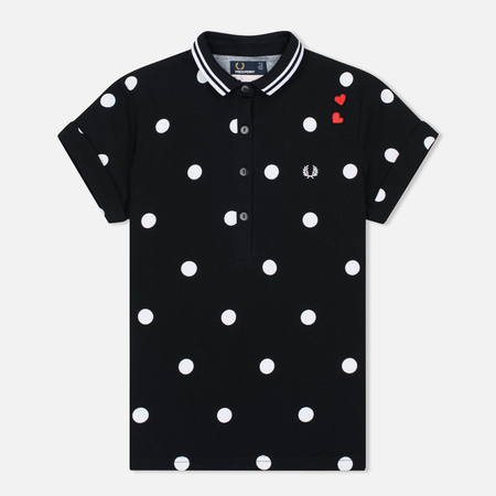 Женское поло Fred Perry x Amy Winehouse Polka Dot Pique Black