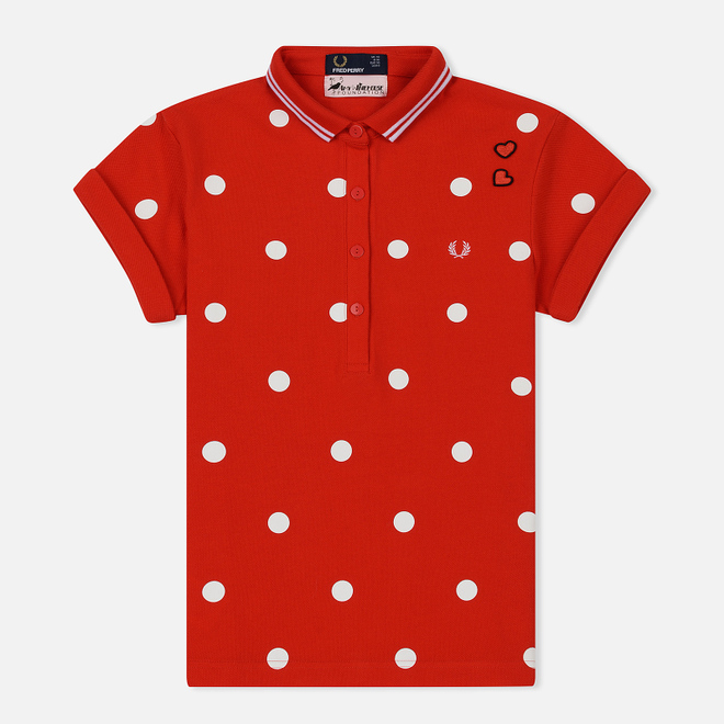 Женское поло Fred Perry x Amy Winehouse Polka Dot Pique Lipstick Red