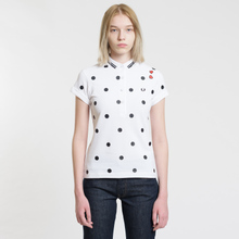 Женское поло Fred Perry x Amy Winehouse Polka Dot Pique White фото- 1