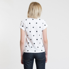 Женское поло Fred Perry x Amy Winehouse Polka Dot Pique White фото- 3