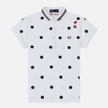 Женское поло Fred Perry x Amy Winehouse Polka Dot Pique White