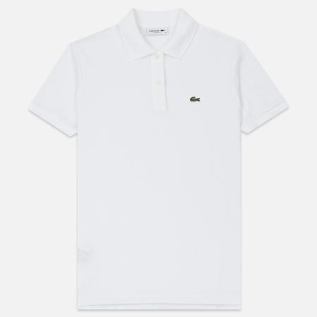 Женское поло Lacoste Classic Fit Soft Cotton Petit Pique White