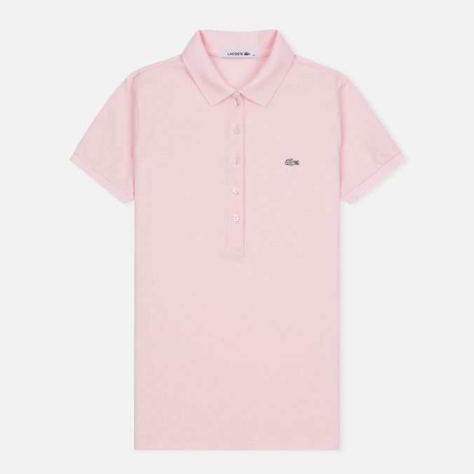 Женское поло Lacoste Slim Fit Stretch Pique Flamingo