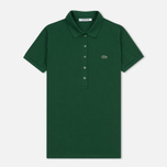 Женское поло Lacoste Slim Fit Stretch Pique Green фото- 0