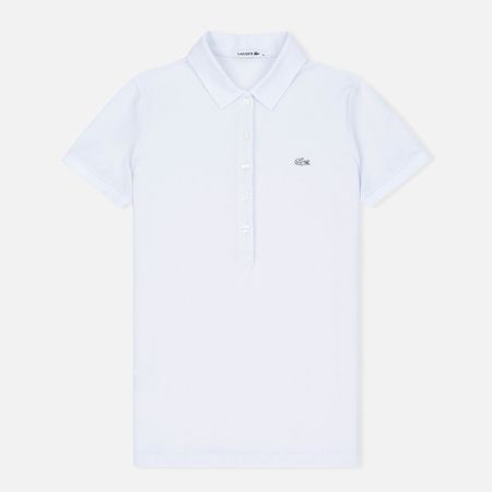 Женское поло Lacoste Slim Fit Stretch Pique White