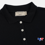 Женское поло Maison Kitsune Tricolor Fox Patch Black фото- 1
