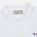 Женское поло Maison Kitsune Tricolor Fox Patch White фото- 1