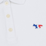 Женское поло Maison Kitsune Tricolor Fox Patch White фото- 3