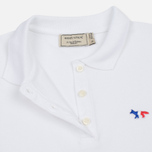 Женское поло Maison Kitsune Tricolor Fox Patch White фото- 2