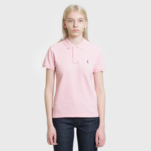 Женское поло Polo Ralph Lauren Embroidered Logo Classic Fit Resort Pink фото- 1