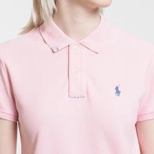 Женское поло Polo Ralph Lauren Embroidered Logo Classic Fit Resort Pink фото- 2