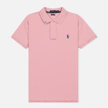 Женское поло Polo Ralph Lauren Embroidered Logo Classic Fit Resort Pink фото- 0
