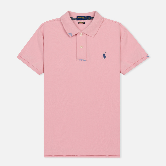 Женское поло Polo Ralph Lauren Embroidered Logo Classic Fit Resort Pink