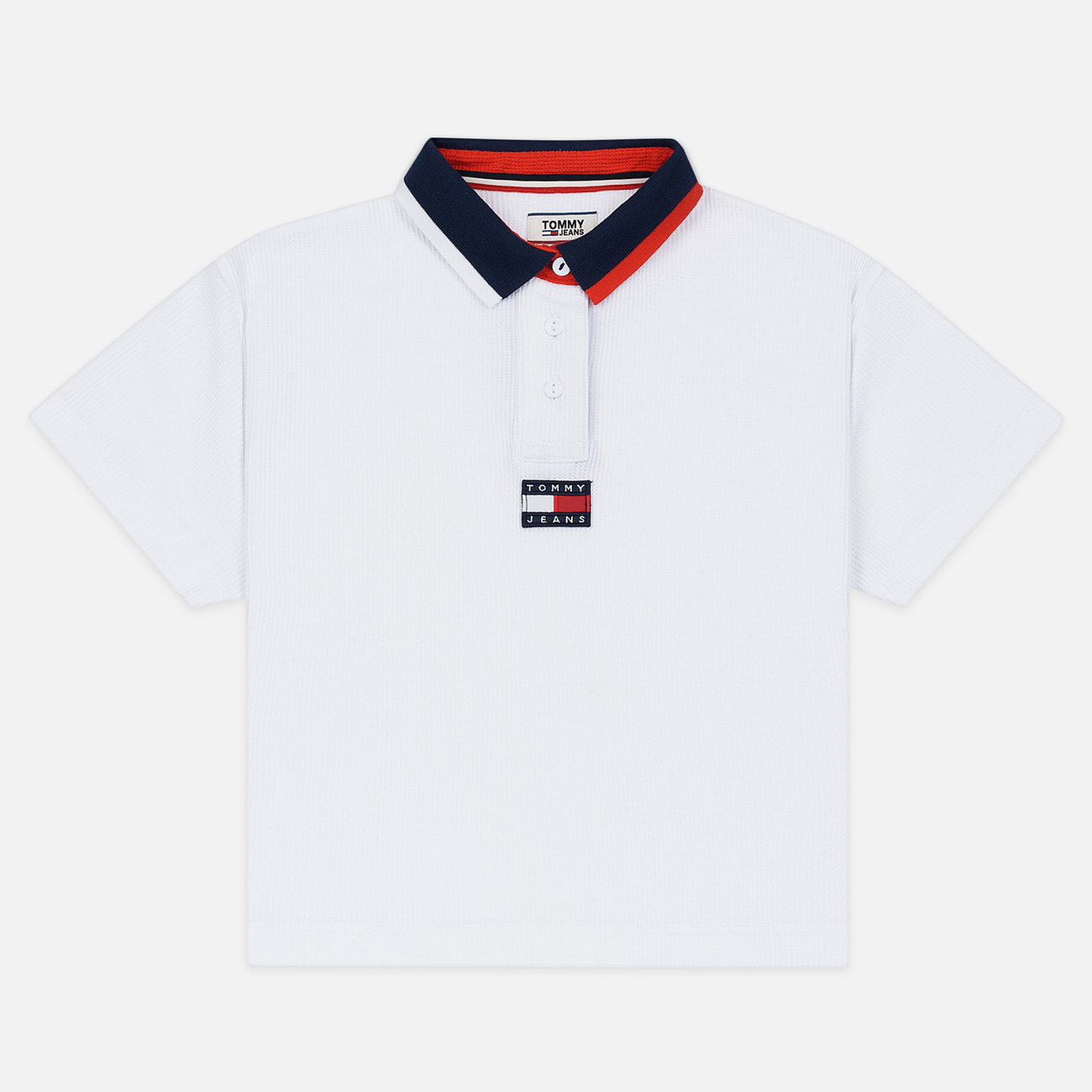Женское поло Tommy Jeans Tommy Badge Classic White