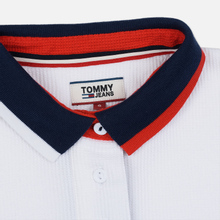 Женское поло Tommy Jeans Tommy Badge Classic White фото- 1