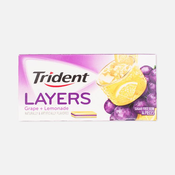 Жевательная резинка Trident Layers Grape Lemonade