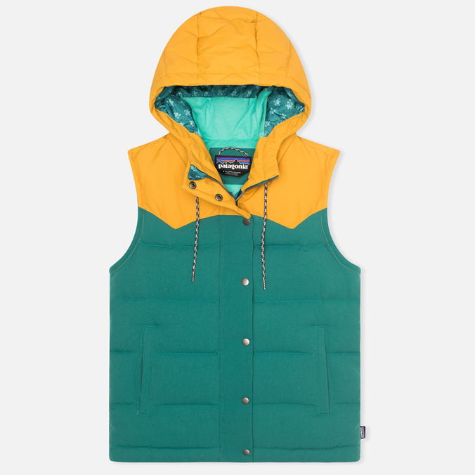 Patagonia Bivy Hooded Women`s Vest Arbor Green