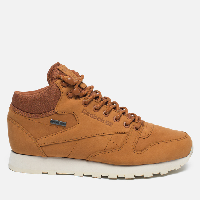 Зимние кроссовки Reebok Classic Leather Mid Gore-Tex Brown Malt/Paper White/Beach Stone/Stucco