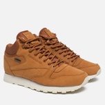 Зимние кроссовки Reebok Classic Leather Mid Gore-Tex Brown Malt/Paper White/Beach Stone/Stucco фото- 1