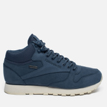 Зимние кроссовки Reebok Classic Leather Mid Gore-Tex Royal Slate/Paper White/Beach Stone/Brown фото- 0