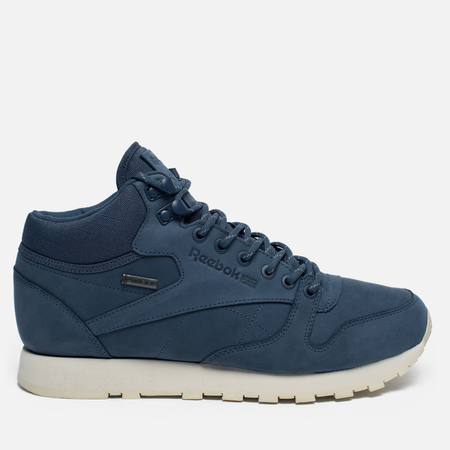 Зимние кроссовки Reebok Classic Leather Mid Gore-Tex Royal Slate/Paper White/Beach Stone/Brown