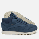 Зимние кроссовки Reebok Classic Leather Mid Gore-Tex Royal Slate/Paper White/Beach Stone/Brown фото- 2