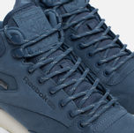 Зимние кроссовки Reebok Classic Leather Mid Gore-Tex Royal Slate/Paper White/Beach Stone/Brown фото- 4