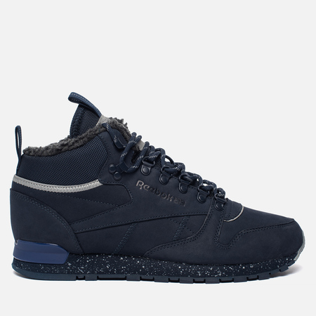 Зимние кроссовки Reebok Classic Leather Mid Sherpa II SPP Navy/Colbalt/Grey/Black