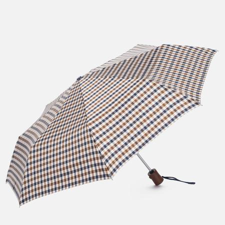Зонт складной Aquascutum Club Check Small Vicuna