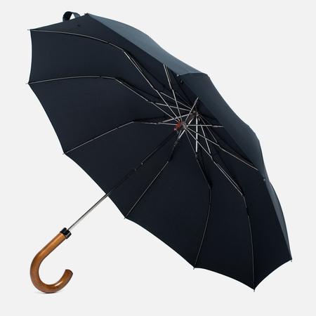 London Undercover Maple Handle Folding Umbrella Black