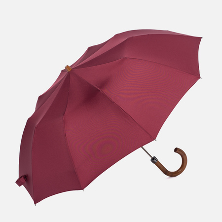 Зонт складной London Undercover Maple Handle Burgundy