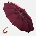 Зонт складной London Undercover Maple Handle Burgundy фото- 0