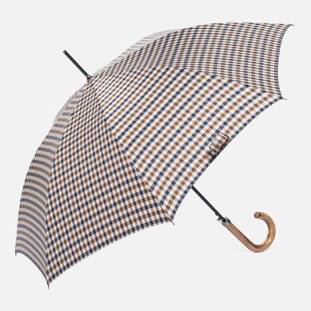 Зонт-трость Aquascutum Club Check Walker Vicuna