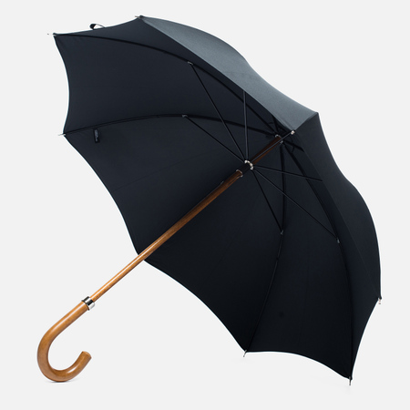 London Undercover Multi-Tip Solid Umbrella Black
