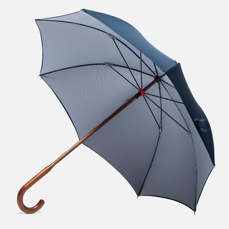 London Undercover Oxford Classic Maple Wood Umbrella Navy